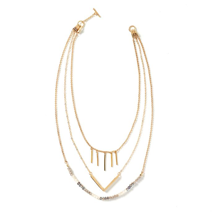 Blakely 3-in-1 Short Layered Necklace (more colors)