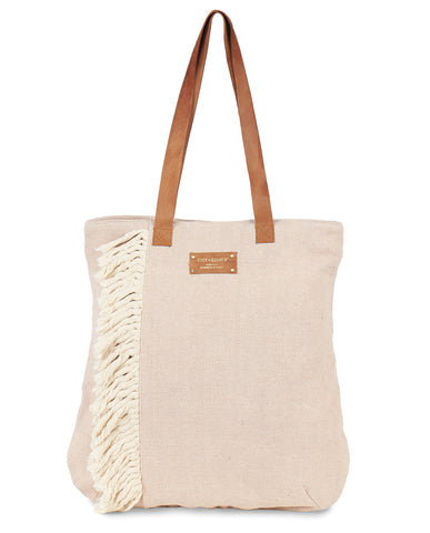 C+C Fun Fringe Recycled Cotton Tote (more colors)