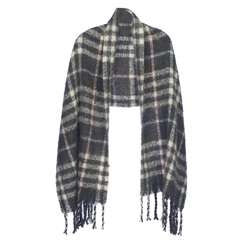 Chateau Plaid Oblong Scarf/Wrap