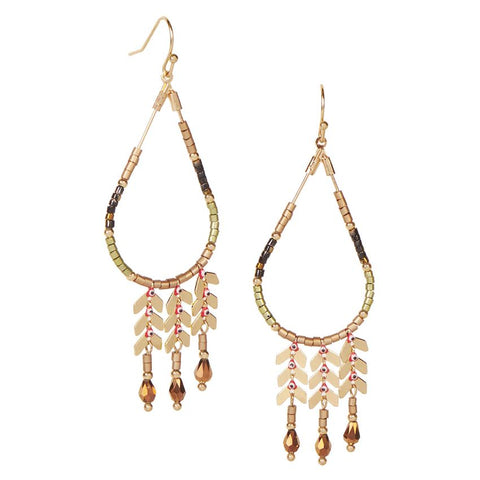 Journey Beaded Teardrop Earrings