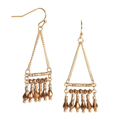 Traveler Triangle Gold Earrings