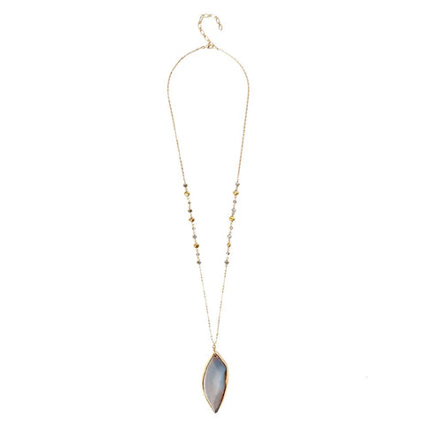 Viento Natural Stone Pendant Necklace