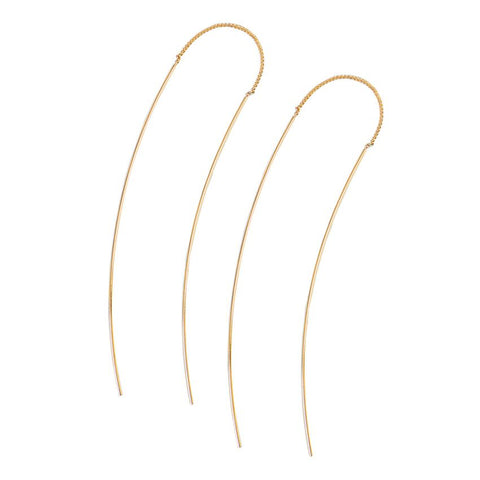 Threader Earrings (Gold or Silver)