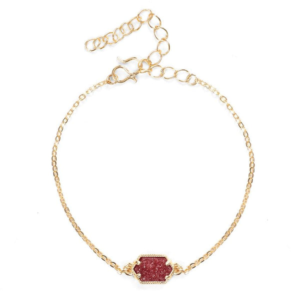 Roxy Stone Solitaire Delicate Gold Bracelet (more colors)