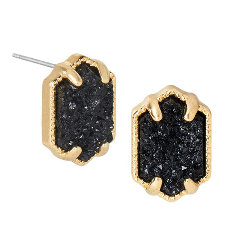 Roxy Stone Solitaire Delicate Gold Earrings (more colors)
