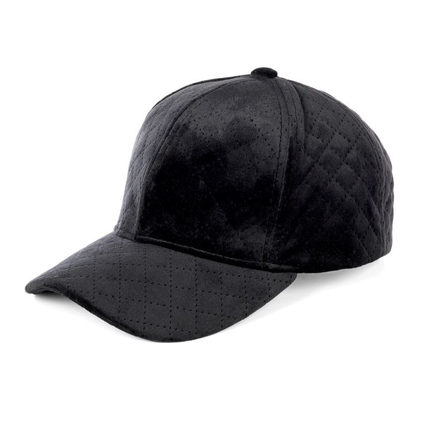 Velour Quilted Baseball Hat (more colors)