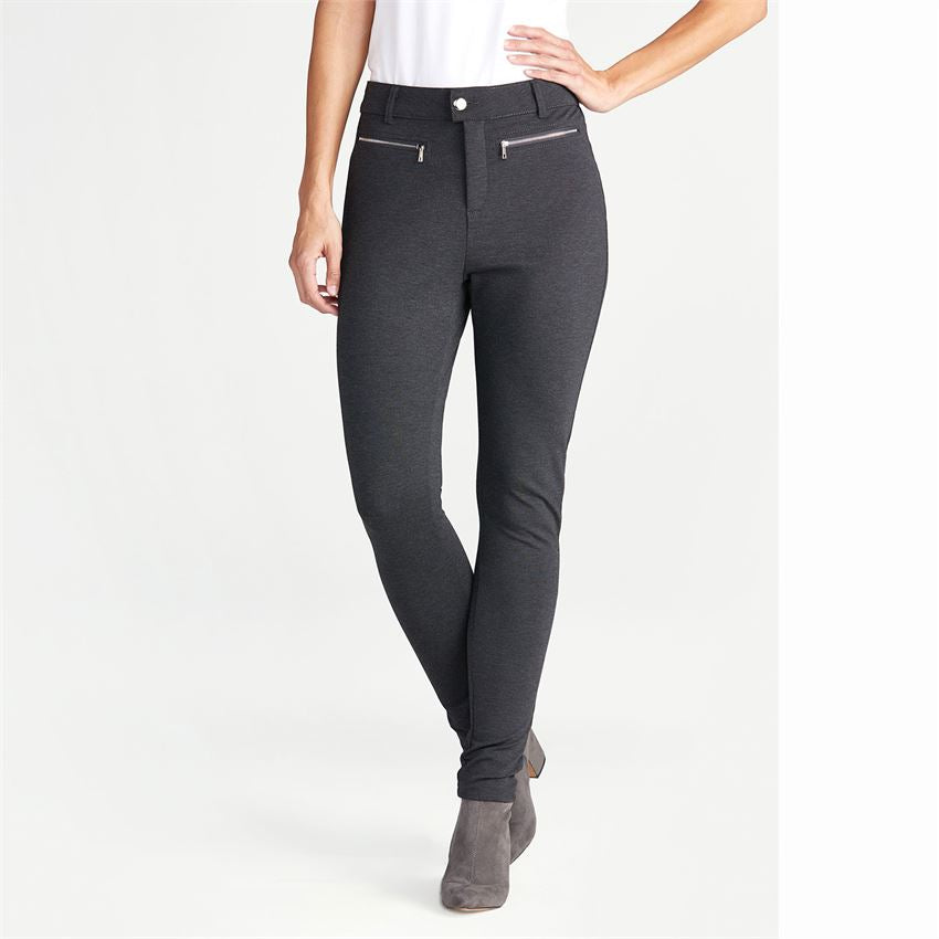 Vivian Grey Zipper Ponte Pants