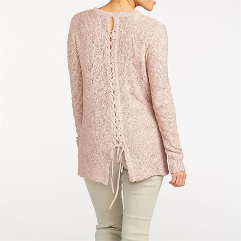 Windrush Braided Tie Back Pullover Sweater (more colors)