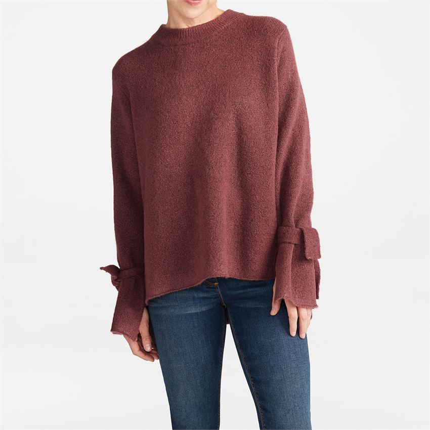 Cosetta Tie-Sleeve Sweater (more colors)