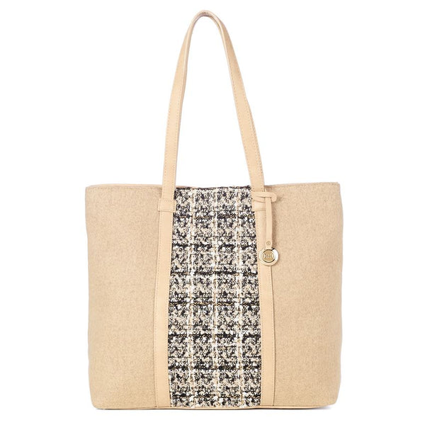 C+C Rachel Plaid Front Woolen Tote (more colors)