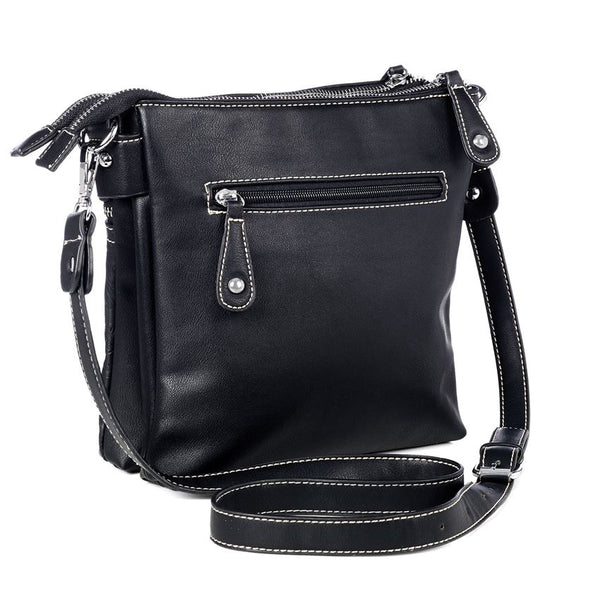 C+C Embossed Onyx Crossbody Purse