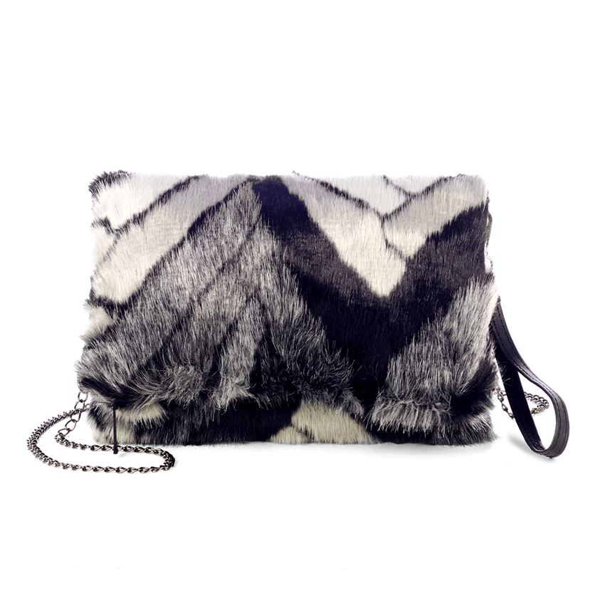 Wild One Faux Fur Crossbody + Clutch (more colors)