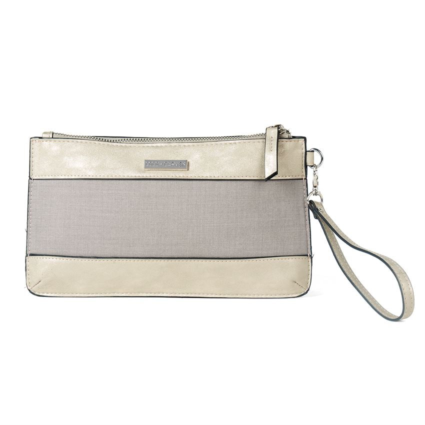 C+C Elizabeth Mixed Media Wristlet Pouch (more colors)