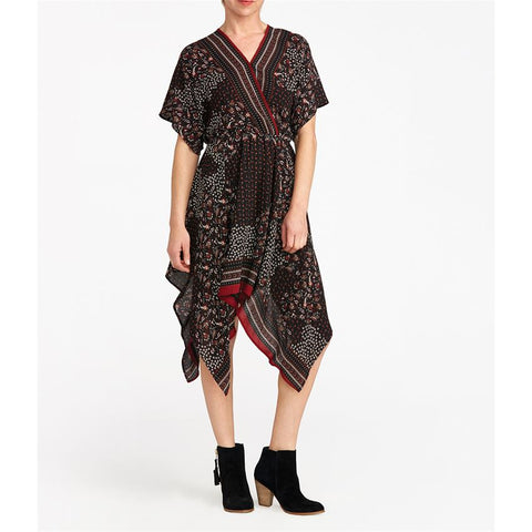 Equinox Printed Wrap Dress