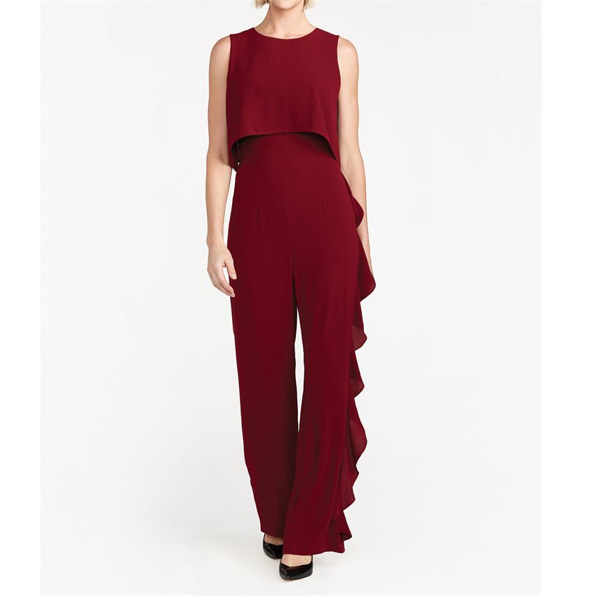 C+C La Marie Ruffled Black Jumpsuit (more colors)