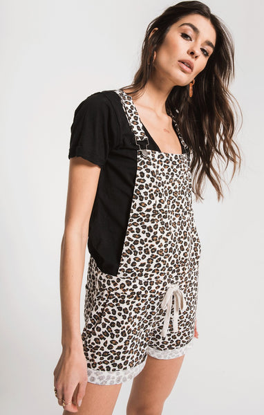 The Multi Leopard Short Overalls by Z Supply