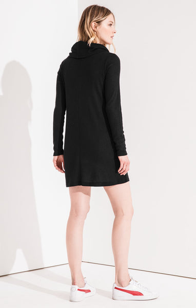The Black Brushed Cowl Neck Dress by Z SUPPLY
