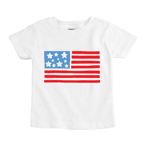 USA Flag Fourth of July Kids Tee