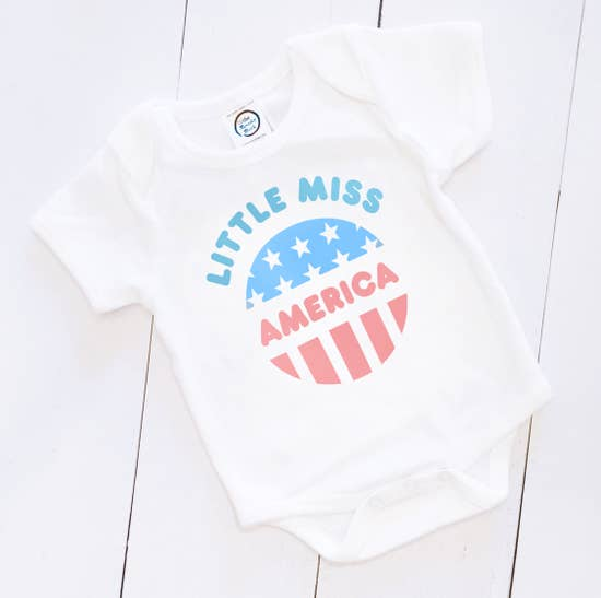 Little Miss America Girls Onesie