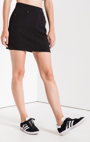 The Black Knit Mini Skirt by Z SUPPLY