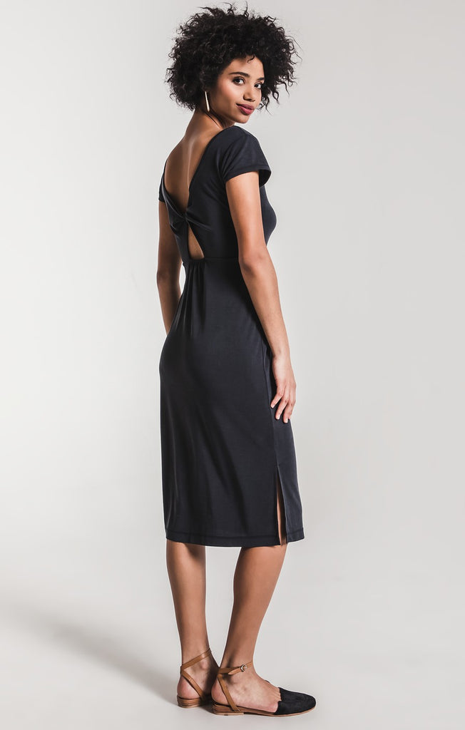 The Luxe Modal Muse Midi Black Dress by Z SUPPLY
