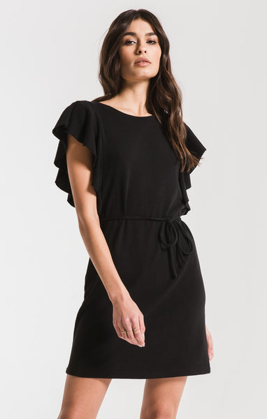 The Ruffle Sleeve Black Dress by Z SUPPLY