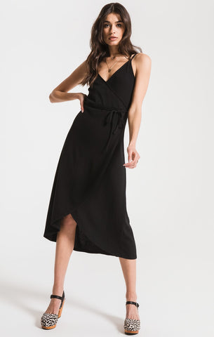 The Capri Solid Wrap Midi Dress by Z Supply