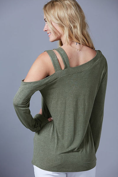 Feeling Free One-Shoulder Long Sleeve Top