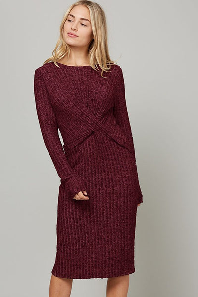 Twisted Front Sweater Dress (more colors)