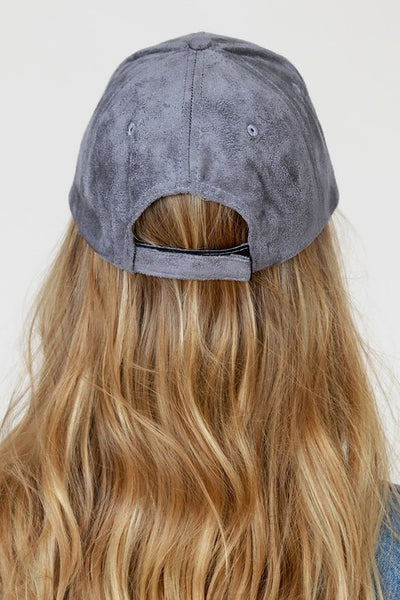 Stand Out Cap with Suede and Faux Leather (more colors)