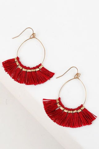 Thread Tassel Fan Earrings (more colors)