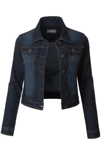 Classic Dark Denim Jacket