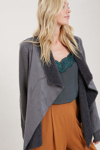 Draped in Cozy Sweater Jacket (more colors)