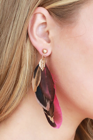 Layered Feather Earrings (more colors)
