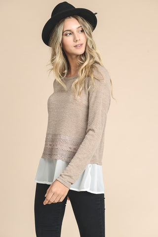 Lovely Layers Long Sleeve Sweater Top (more colors)