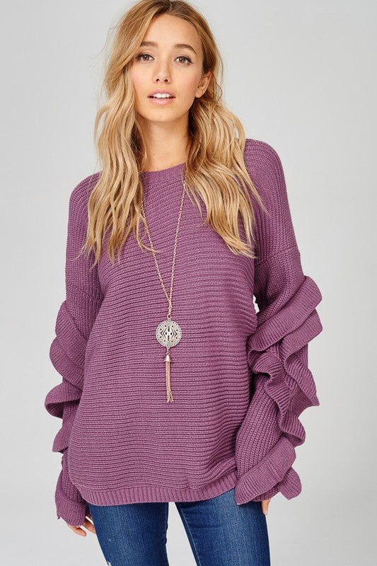 All the Frills Detailed Sleeve Sweater (more colors)