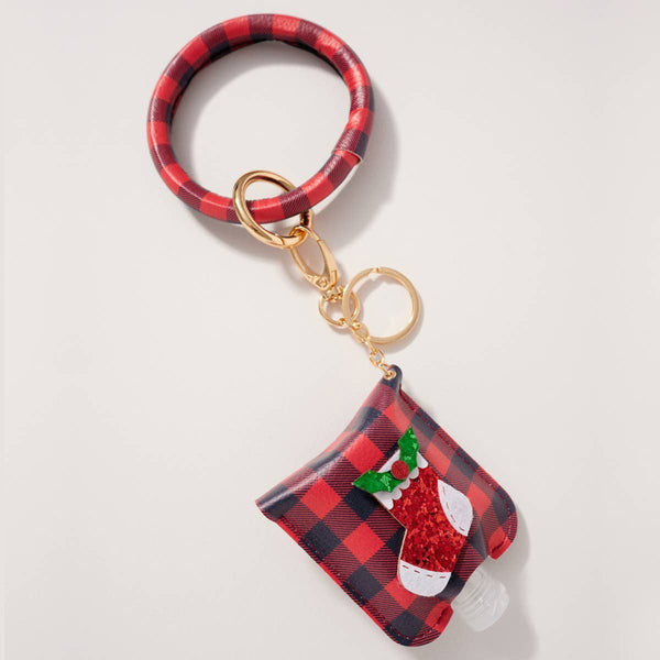 Christmas Theme Sanitizer Holder Key Rings (more options)