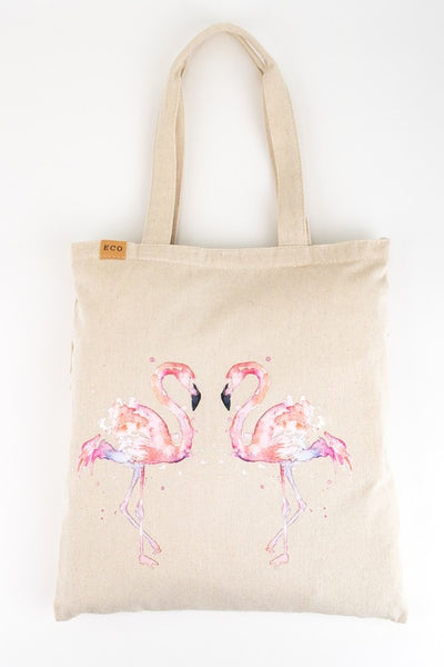 Painted Flamingo Eco-Friendly Tote Bag
