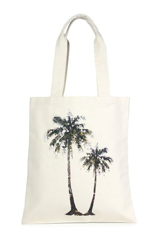 Sequin Palm Tree Eco-Friendly Tote Bag