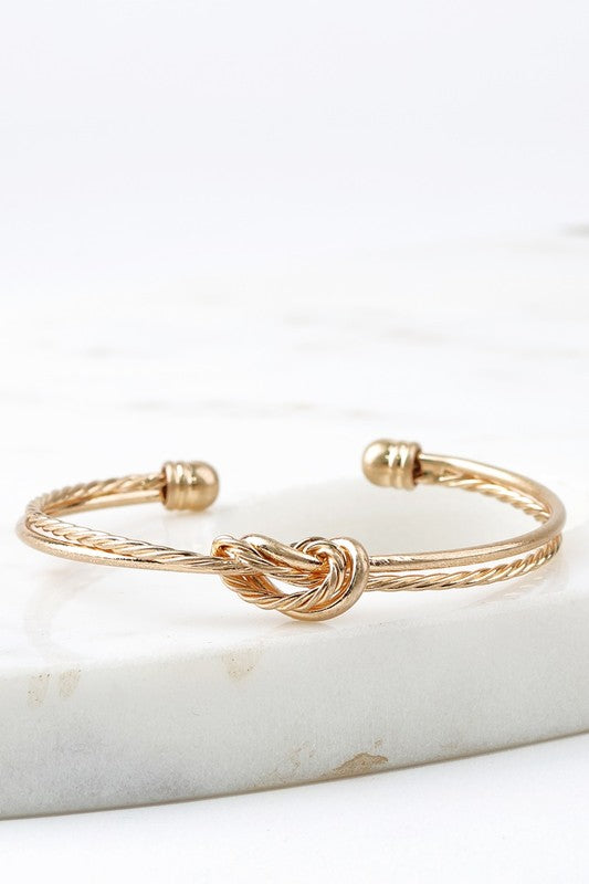 Double Knotted Cuff Bracelet (more colors)