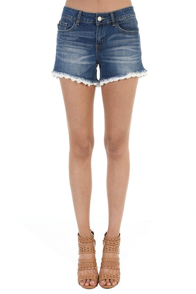 Judy Blue Lace Trim Shorts