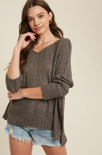 Reverse Seam Loose Fit Sweater