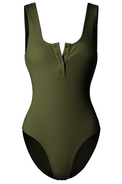 Ribbed Henley Tank Bodysuit (more colors)