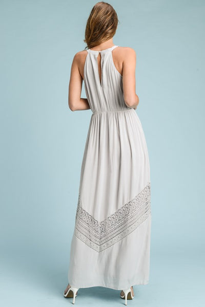 Boho Beauty Silver/Grey Maxi Dress