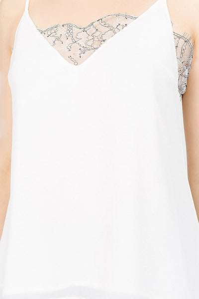 Georgette Lace Detail Cami