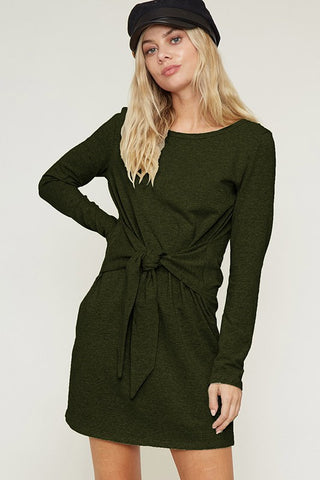 Waist Tie Long Sleeve Dress (more colors)