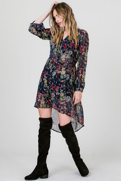 Penny Lane Floral Print Button Down Shirt Dress