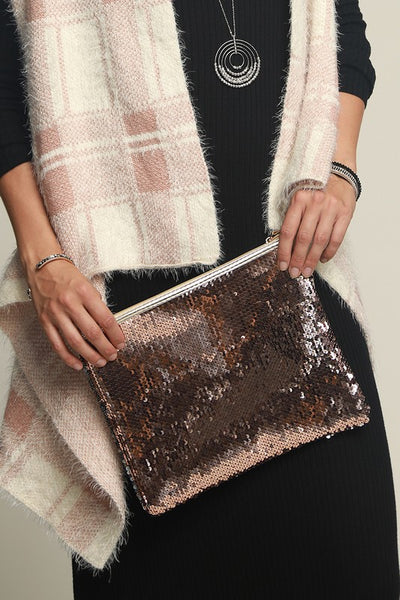 Sequin Two Way Clutch (more colors)
