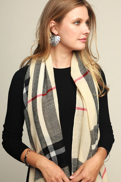 Classic Plaid Oblong Scarf (more colors)