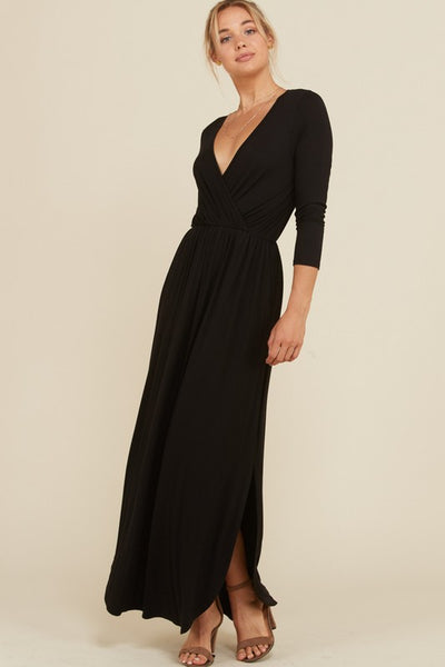 Dress It Up or Down Wrap Maxi Dress